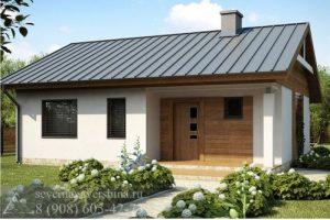 Дом из газобетонных блоков 70,2 м²