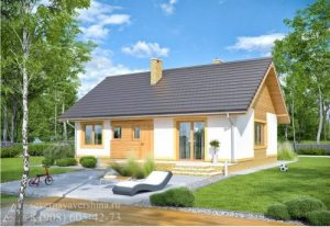 Каркасный дом 100,62 м²