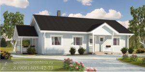 Дом из бруса 109 м²