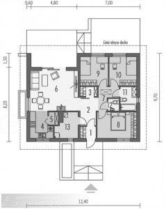 Дом из газобетонных блоков 120 м²