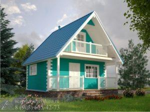 Каркасный дом 55 м²