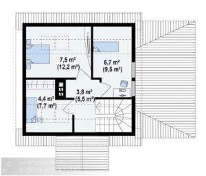 Дом из бруса 74 м²