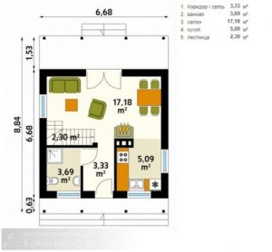 Каркасный дом 93 м²