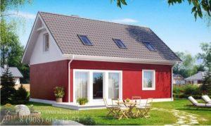 Дом из газобетонных блоков 96,5 м²