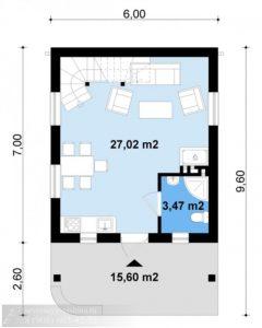 Дом из газобетонных блоков 99,7 м²
